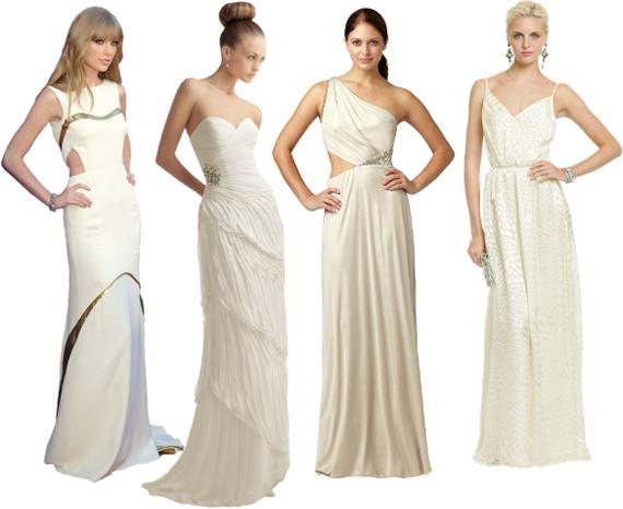 Белое платье на новый год 2013