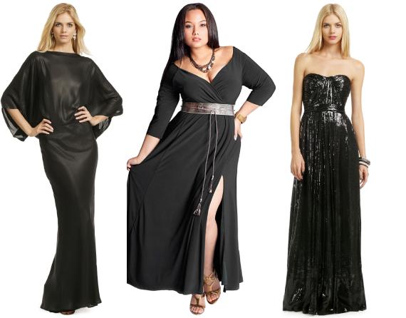 Черное платье на новый год 2013