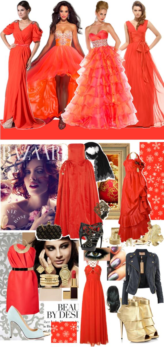 Цвет нового года 2014 красный