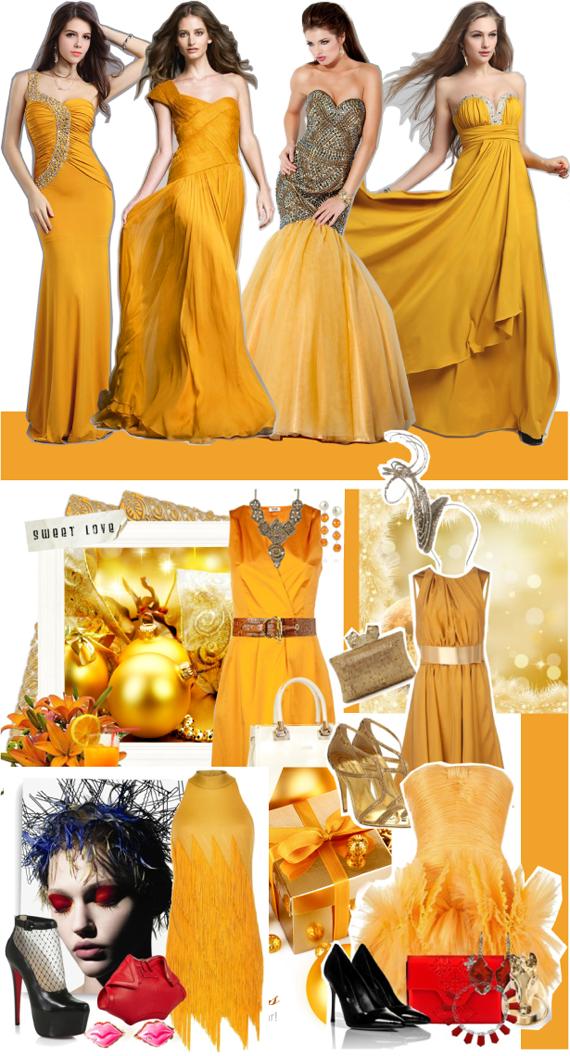 Цвет нового года 2014 желтый