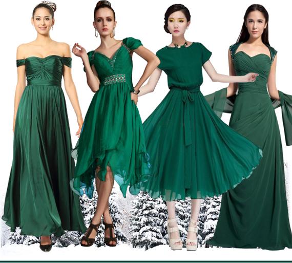 Темный изумрудно-зеленый - цвет нового 2016 года