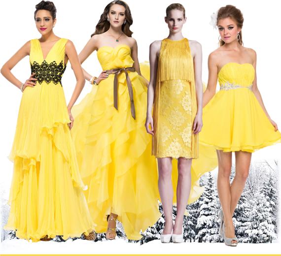 Желтый - цвет нового 2016 года