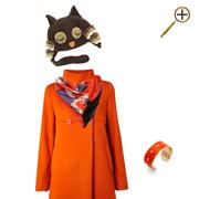 Сочетание коричневого цвета и оранжевого