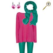 Сочетание розового цвета и зеленого