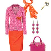 Сочетание розового цвета и оранжевого