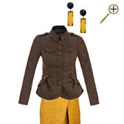 Сочетание коричневого цвета и желтой охры