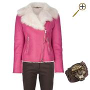 Сочетание коричневого цвета и розового