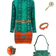 Сочетание оранжевого цвета и зеленого