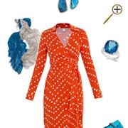Сочетание оранжевого цвета и синего