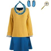 Сочетание желтого цвета и синего