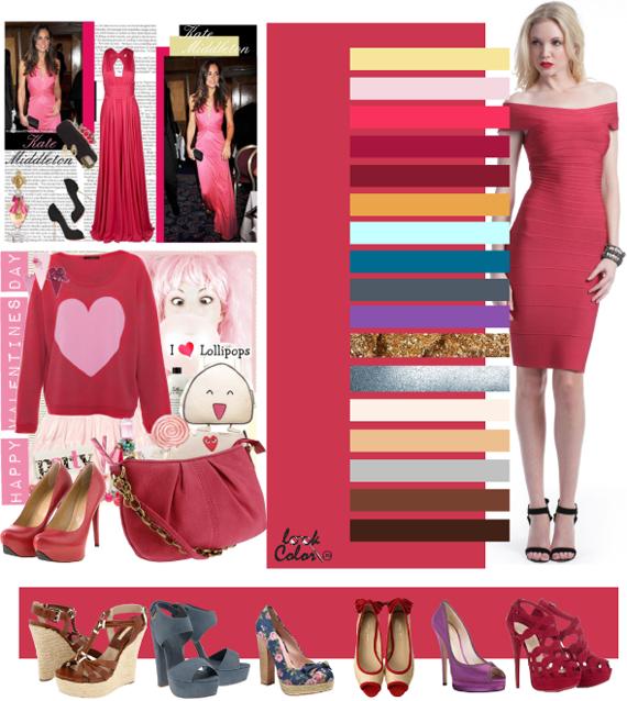 Какой цвет сочетается с коралловым платьем
