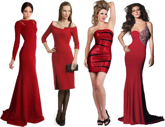 Красное платье на новый год 2013