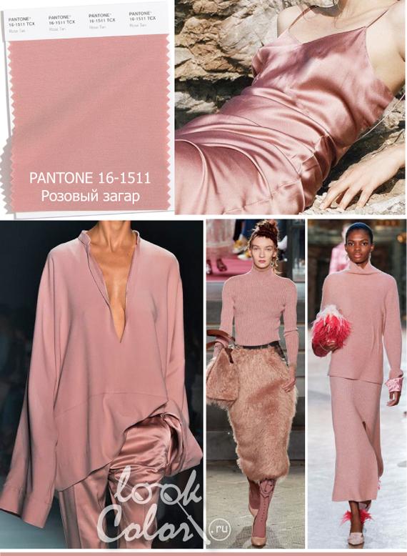 Модный розовый цвет PANTONE 16-1511 Розовый загар