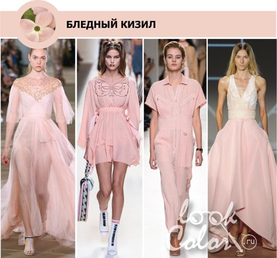 Модные цвета весна лето 2017 платья