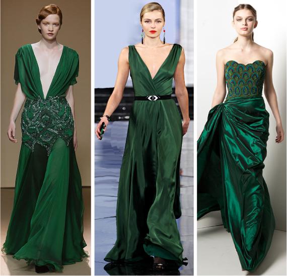 Золото зеленое платье