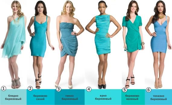 Платья бирюзового цвета фото