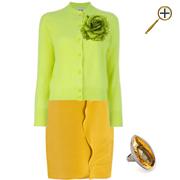 Сочетание желтого цвета и салатового