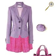 Сочетание розового цвета  и сиренево-розового