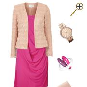 Сочетание розового цвета  и телесного