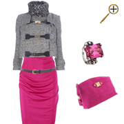 Сочетание розового цвета  и серого