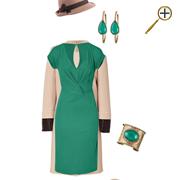 Сочетание зеленого цвета и телесного