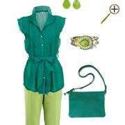 Сочетание зеленого цвета и салатового