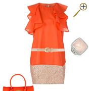 Сочетание оранжевого цвета и телесного