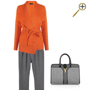 Сочетание оранжевого цвета и серого