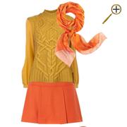 Сочетание желтого цвета и оранжевого