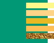 Сочетание зеленого цвета с желтыми оттенками