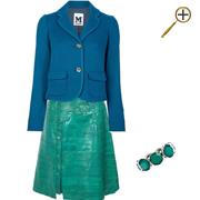 Сочетание зеленого цвета и синего