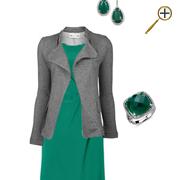Сочетание зеленого цвета и серого