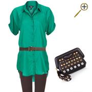Сочетание коричневого цвета и зеленого