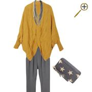 Сочетание желтого цвета и серого