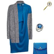 Сочетание синего цвета и серого