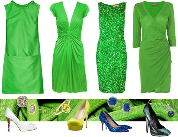 Зеленое платье на новый год 2013