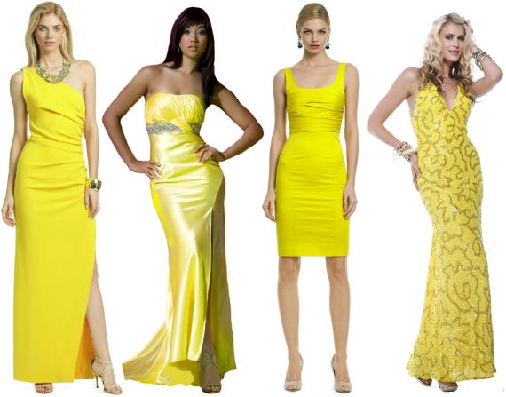 Желтое платье на новый год 2013