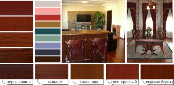 Сочетание цветов мебели
