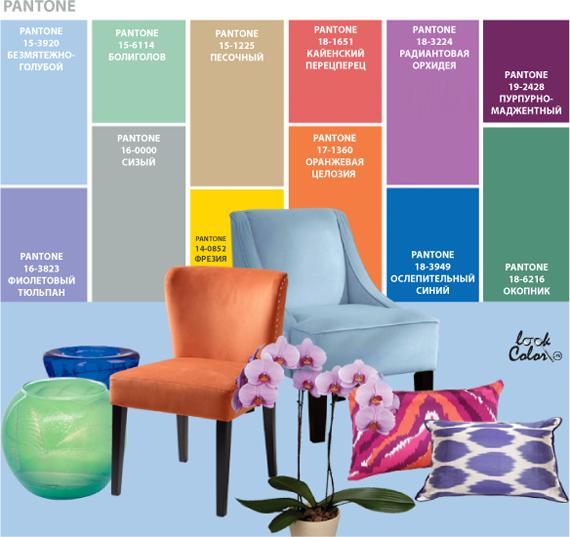 Модный цвет в интерьере 2014
