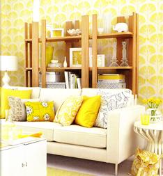 Желтый цвет в интерьере и сочетание цветов с желтым