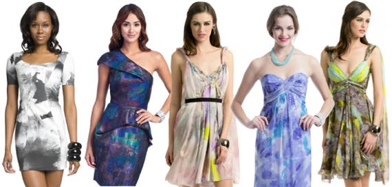 Платья с абстрактным рисунком