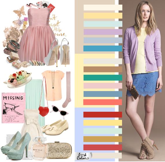 Цветовая гамма романтического стиля в одежде
