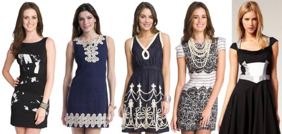 Платья с контрастным рисунком