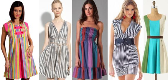 Купить ткань в полоску для платья