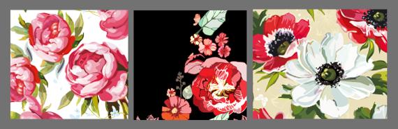 Рисунок в крупный цветочек