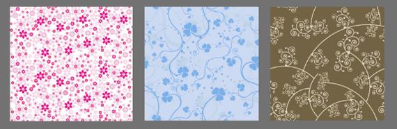 Рисунок в мелкий цветочек