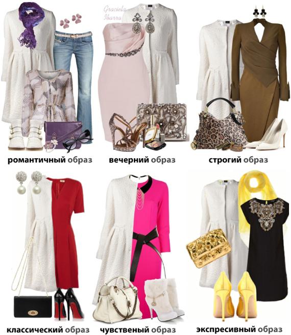 Базовые цвета в одежде. Сочетание с белым цветом