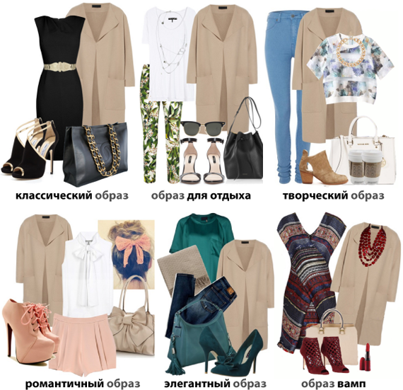Базовые цвета в одежде. Сочетание с бежевым цветом
