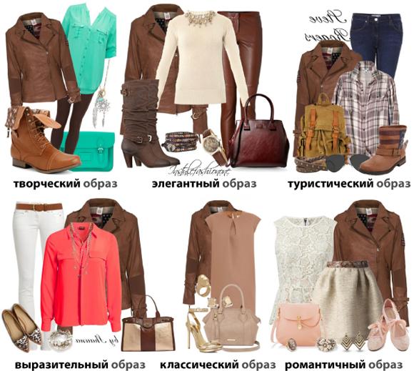 Сочетание обуви и одежды цвета