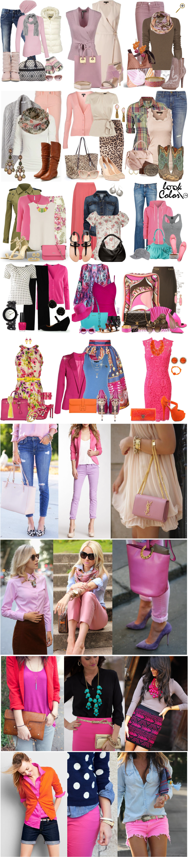 Сочетание розового цвета в одежде